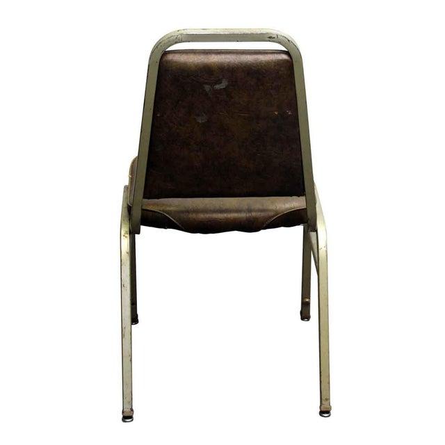 Salvaged Metal Vinyl Auditorium Office Chair - Image 6 of 10