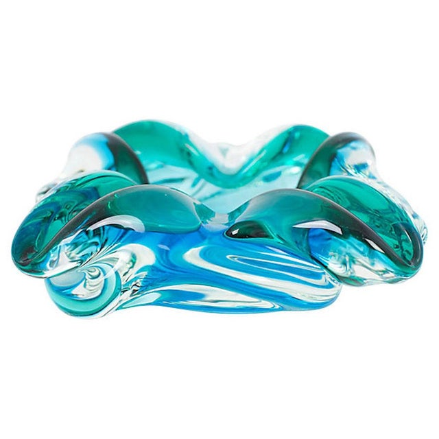 Glass 1950s Murano Glass Catchall For Sale - Image 7 of 7