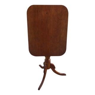 Mid-19th Century Cherry Tilt Top Tea Table For Sale