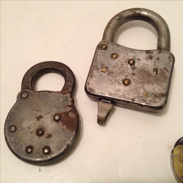 Assorted Antique Locks - Set of 5 - Image 5 of 6