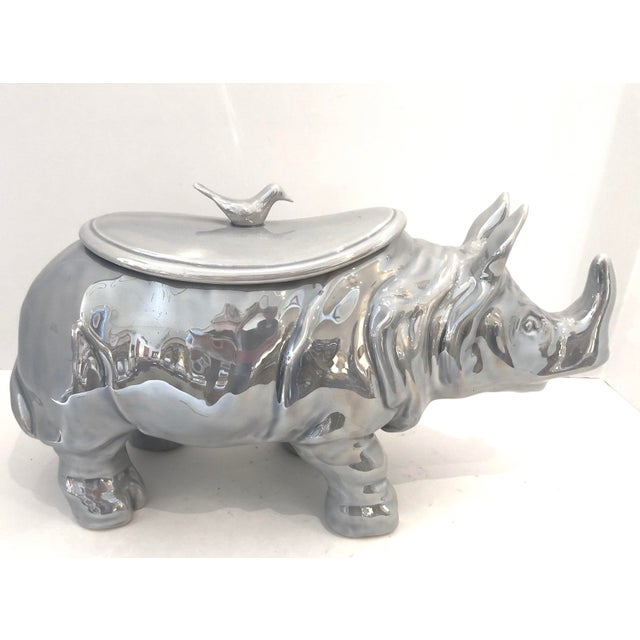 Mid-Century Rhinoceros Lusterware Ceramic Tureen by Christian Dior, France For Sale - Image 12 of 12