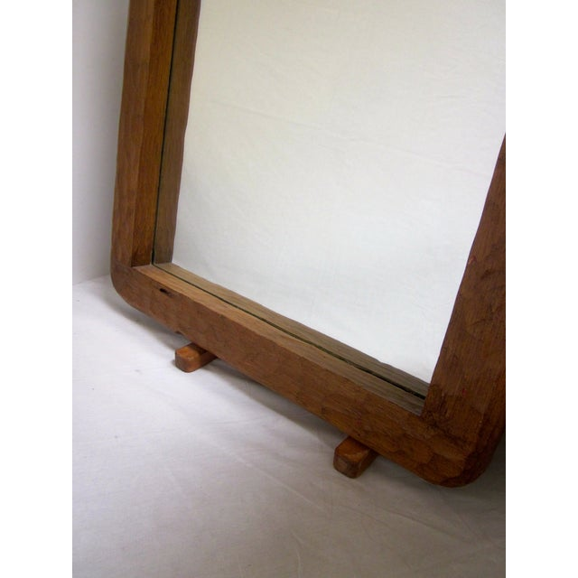 Rustic Carved Wooden Mirror - Image 4 of 10