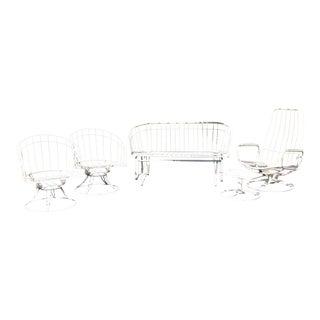 Mid-Century Modern Homecrest Outdoor Furniture - 5 Piece Set For Sale