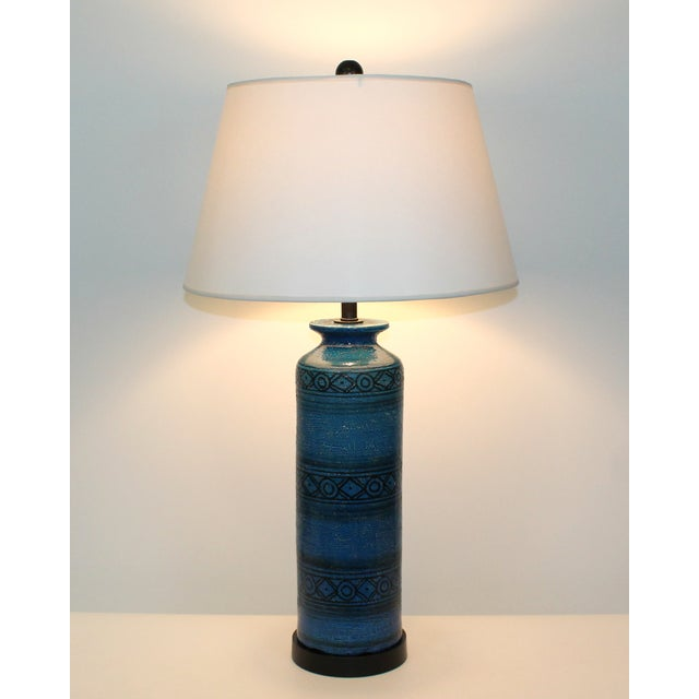 Bitossi for Raymor Blue Pottery Lamp - Image 9 of 9