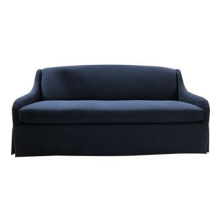 Charles Stewart Bromley Sofa in Indigo Inside/Out Fabric For Sale