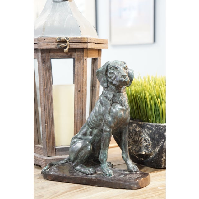 Realism Vintage Maitland-Smith Bronze Sporting Dog For Sale - Image 3 of 12