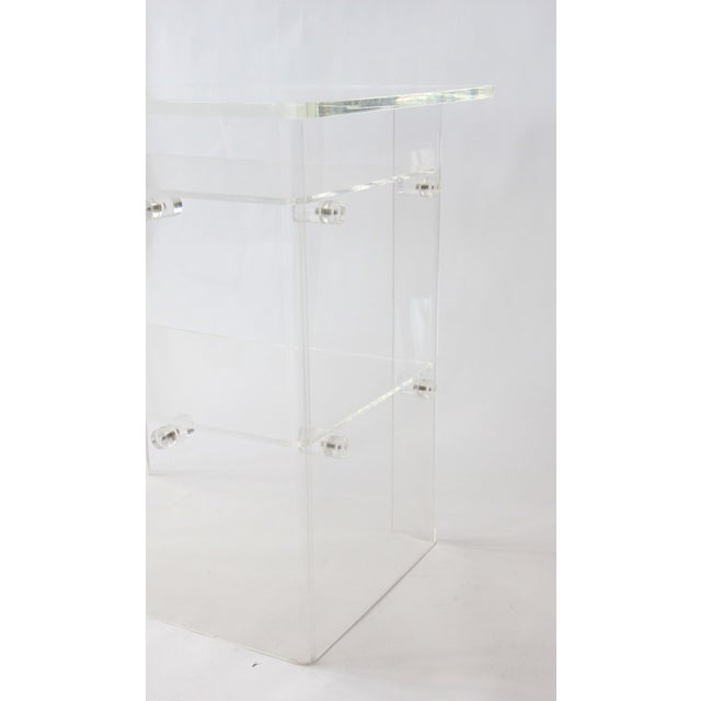 Vintage Lucite Media Console / Bar - Image 3 of 8