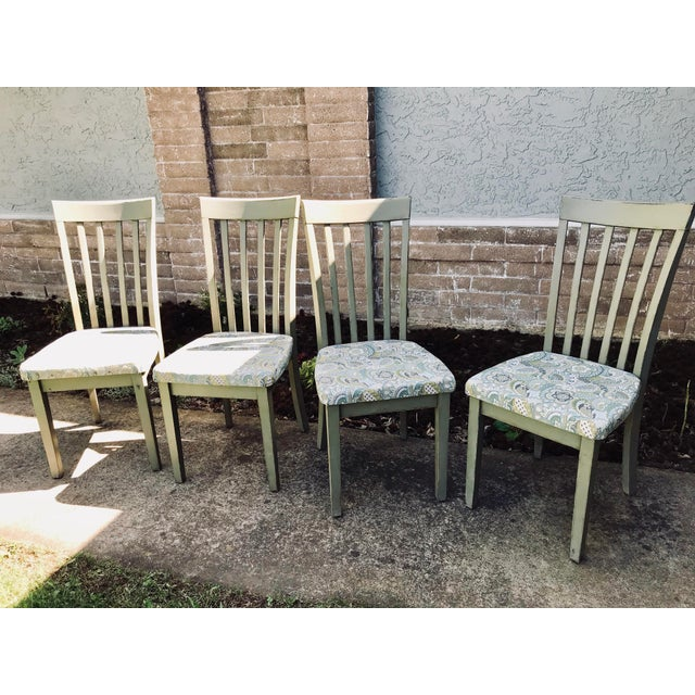 Cottage/Country Style Chateau Gray Chalk Paint Chairs - Set of 4 For Sale - Image 4 of 4