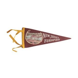 Vintage New Jersey Turnpike Felt Flag Pennant