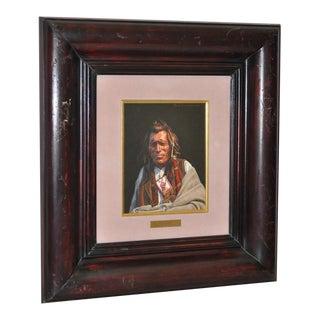Thomas Lorimer Blackfoot Indian Oil Portrait