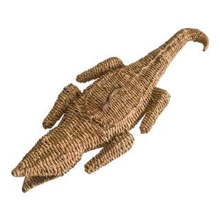 Torres Style Alligator Crocodile Basket For Sale