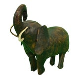 Image of 1950s Vintage Abercrombie & Fitch English Leather Elephant Model For Sale