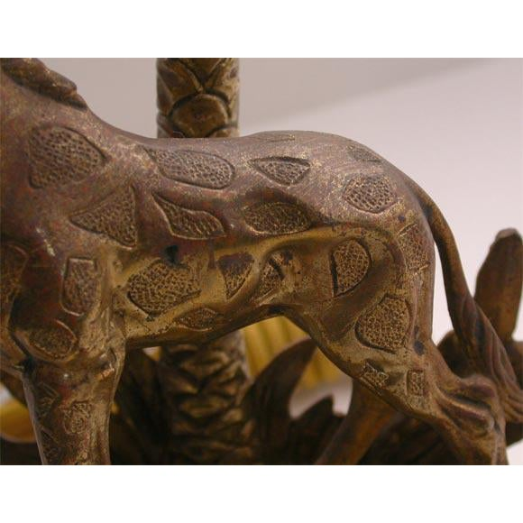 Figural Bronze table lamp For Sale - Image 4 of 8