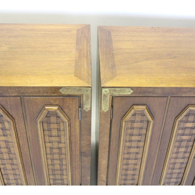 Mid-Century Walnut Cabinets - a Pair For Sale - Image 9 of 10