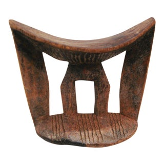 Old African Wooden Carving Kambatta Headrest