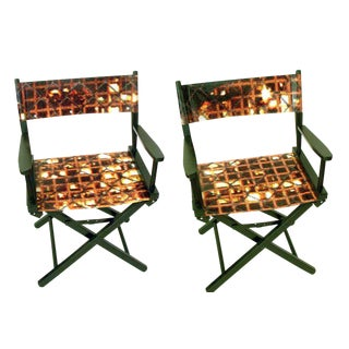 Modern Director Chairs - a Pair For Sale