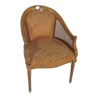 Antique Country French Fruitwood Side Chair For Sale