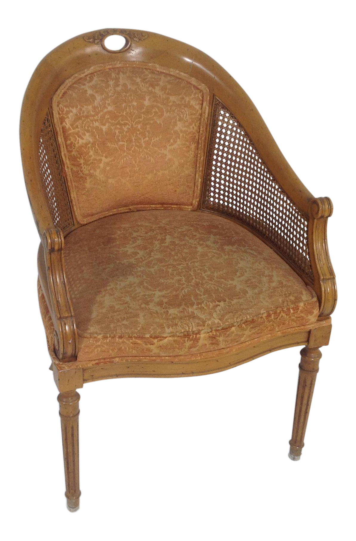 Antique Country French Fruitwood Side Chair