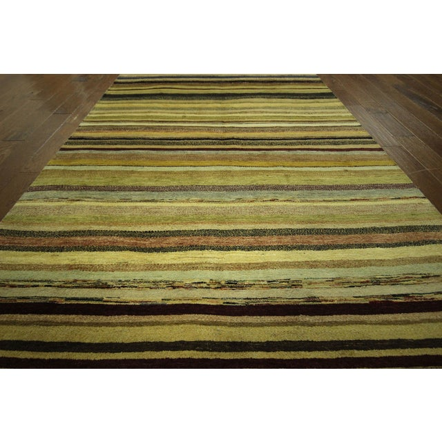 "Oushak Collection Striped Gabbeh Rug - 5'7"" x 8'1"" - Image 6 of 10"