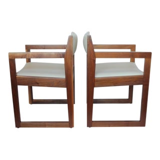 Mid-Century Edward Wormley Style Armchairs - a Pair For Sale