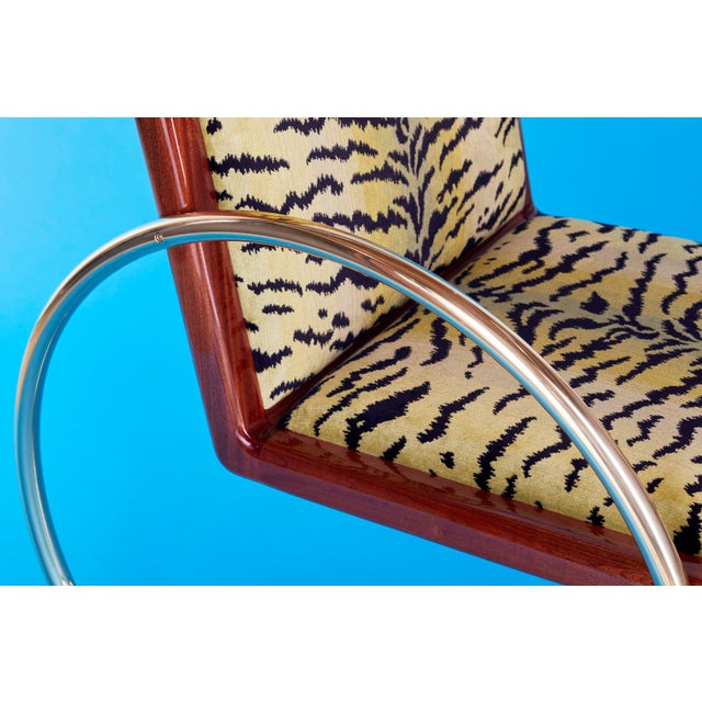 Contemporary Customizable D-Ring Lounge Chair For Sale - Image 3 of 9