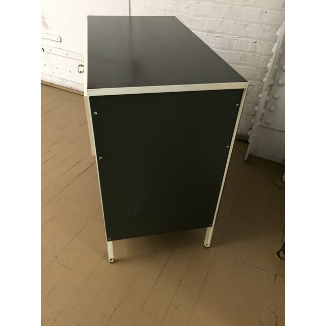 Contemporary Authentic George Nelson for Herman Miller Steelframe Nightstand or Side Table For Sale - Image 3 of 11