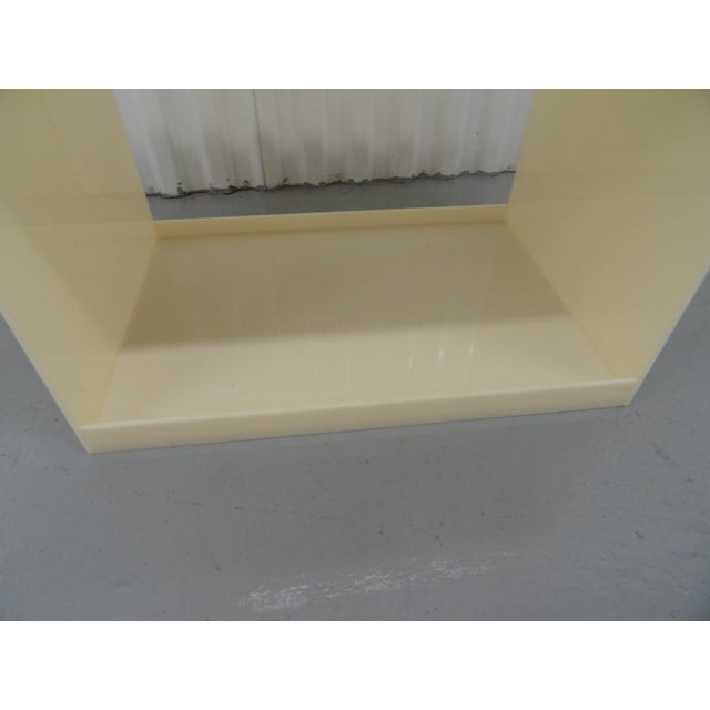 Custom Acrylic Table With Tray Top With Reverse Glass Painted Art For Sale In Miami - Image 6 of 8