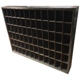 Image of Storage Cabinet of Painted Steel as Wine Rack, Dvd, CD Storage, 72 Cubbies For Sale