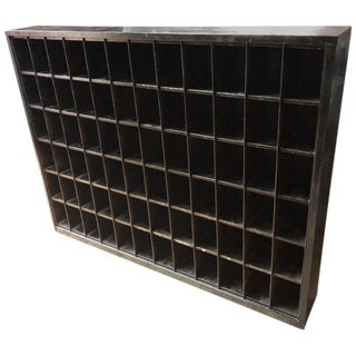 Storage Cabinet of Painted Steel as Wine Rack, Dvd, CD Storage, 72 Cubbies For Sale