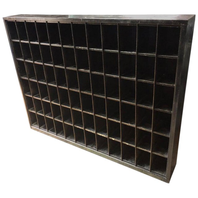 Storage Cabinet of Painted Steel as Wine Rack, Dvd, CD Storage, 72 Cubbies For Sale