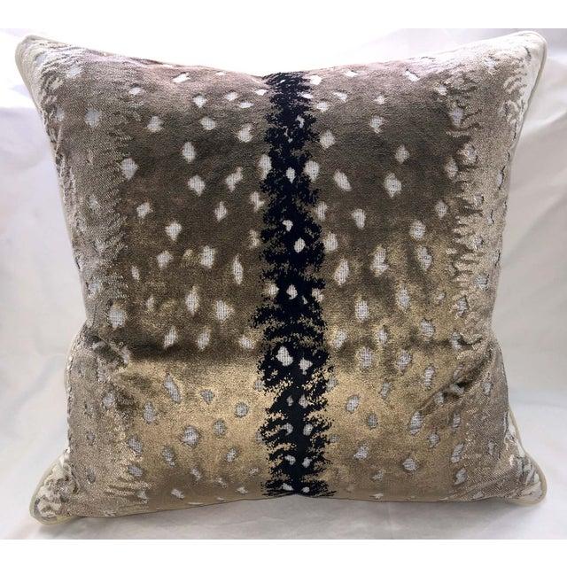 Belgian Antelope Velvet Pillows - A Pair - Image 4 of 4