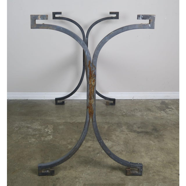 Greek Key Iron and Marble Bistro Table, Circa 1940 For Sale In Los Angeles - Image 6 of 10