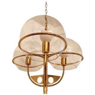 1970s Vintage Italian High Style Brass Pendant For Sale