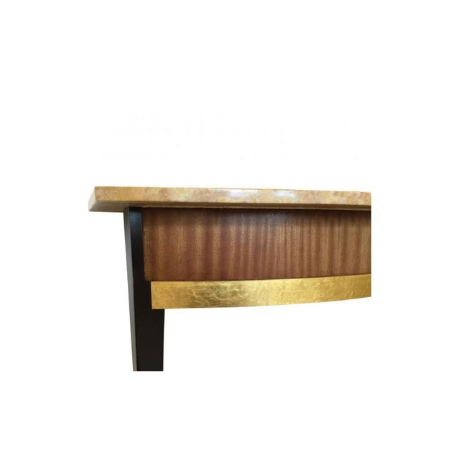 Baker Furniture Company Art Deco Baker Furniture Company Marble Top Console Table For Sale - Image 4 of 6