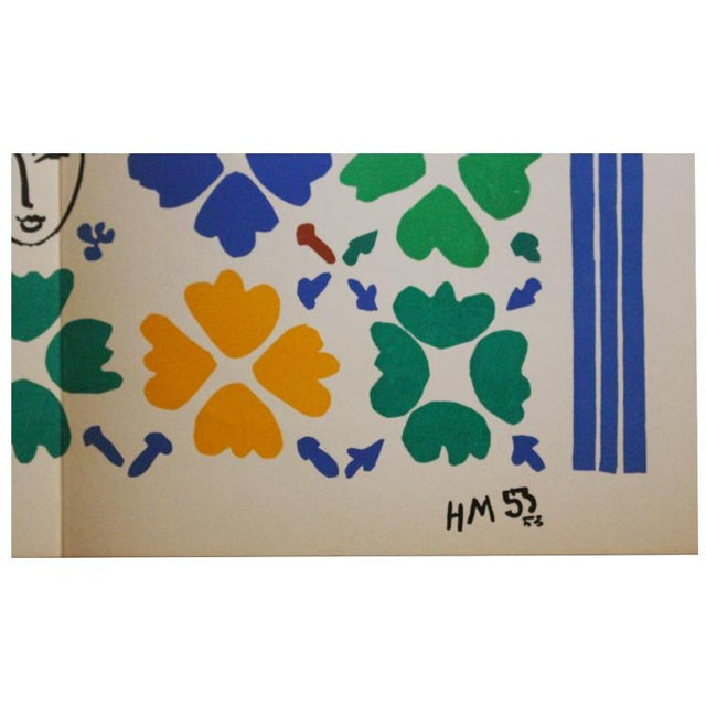 """French Henri Matisse """"Decoration Masques"""" Lithograph For Sale - Image 3 of 5"""