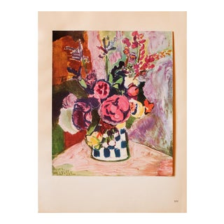 "1948 Henri Matisse, Original Period Parisian Lithograph ""Vase of Flowers"" For Sale"