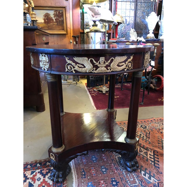 Bronze 1800 French Round Gueridon Side Table With Bronze Ormolu Details For Sale - Image 7 of 13