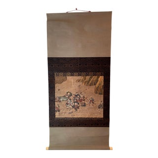 Antique Japanese Hanging Scroll Attributed to Iwasa Matabei For Sale