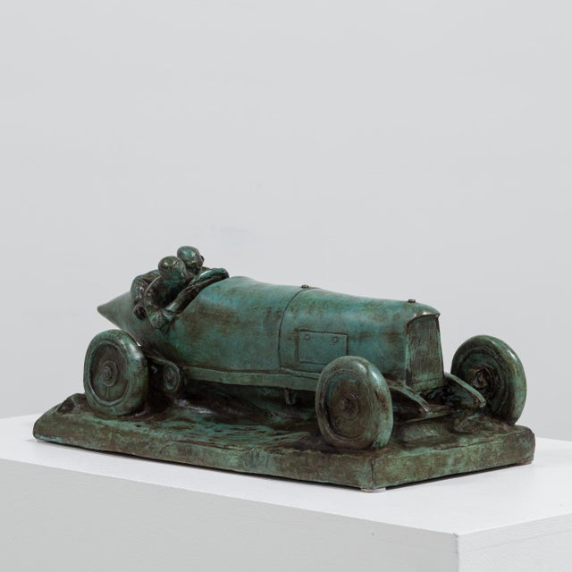 Modern A Bronze Cast of a Mercedes Blitzen Benz by Talisman For Sale - Image 3 of 8