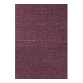 Thibaut Shang Sisal Plum Wallpaper Double Roll For Sale