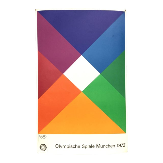 Max Bill Signed 1972 Munich Olympic Poster For Sale