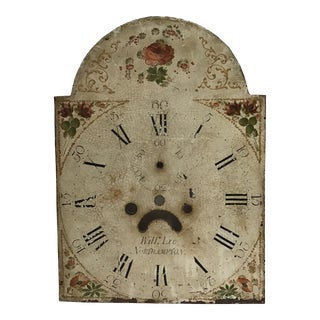 19th Century English Clock Face For Sale