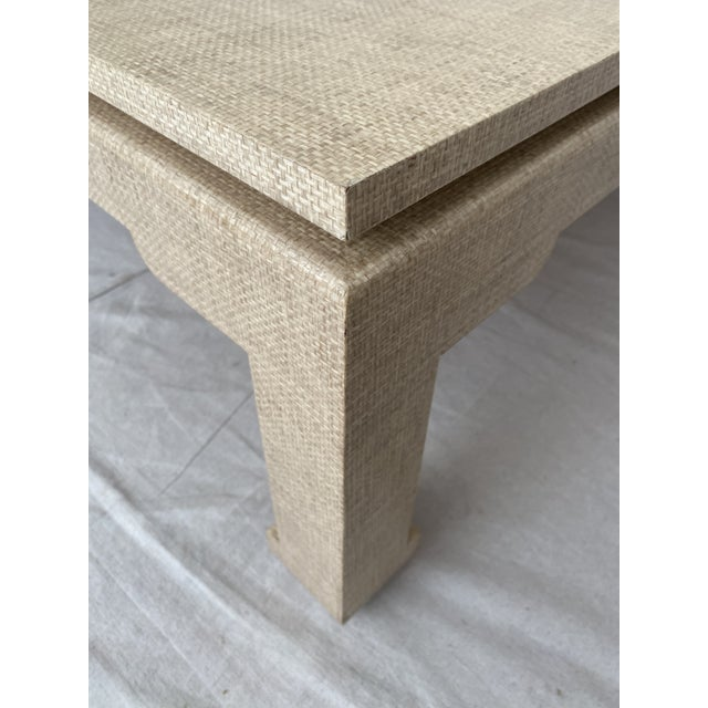 Late 20th Century Grasscloth Wrapped Ming Style Coffee Table For Sale - Image 5 of 11