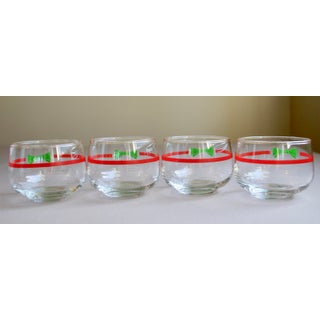 Vintage Christmas Cocktail Glasses - Set of 4 Preview