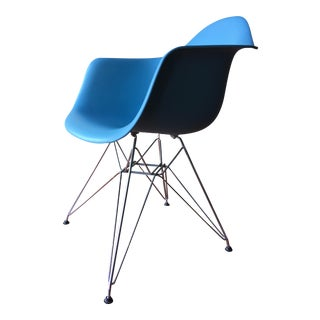 Eames Shell Blue Armchair