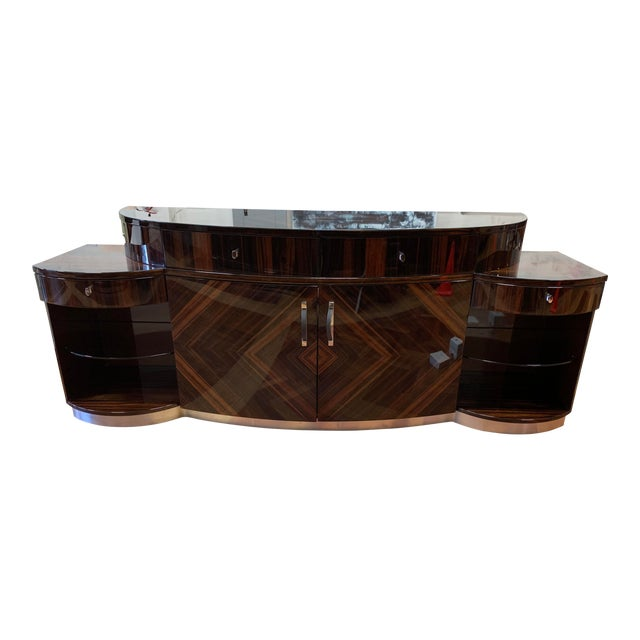 Giorgio Luna Collection Ebony Makassar Curved Unit For Sale