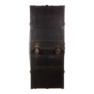 Innovation Standing Vintage Wardrobe Steamer Trunk For Sale