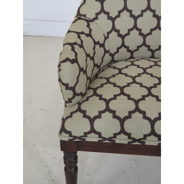 Modern Modern Century Geometric Print Upholstered Club Chairs- A Pair For Sale - Image 3 of 12