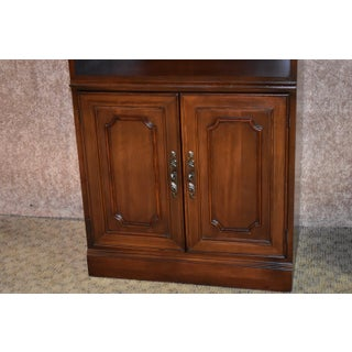 1980s Traditional Hooker Lighted Cherry Bookcase Cabinet Preview