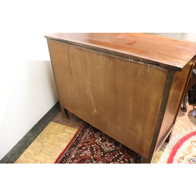 19th Century Italian Empire Walnut Commode or Chest of Drawers For Sale - Image 6 of 10